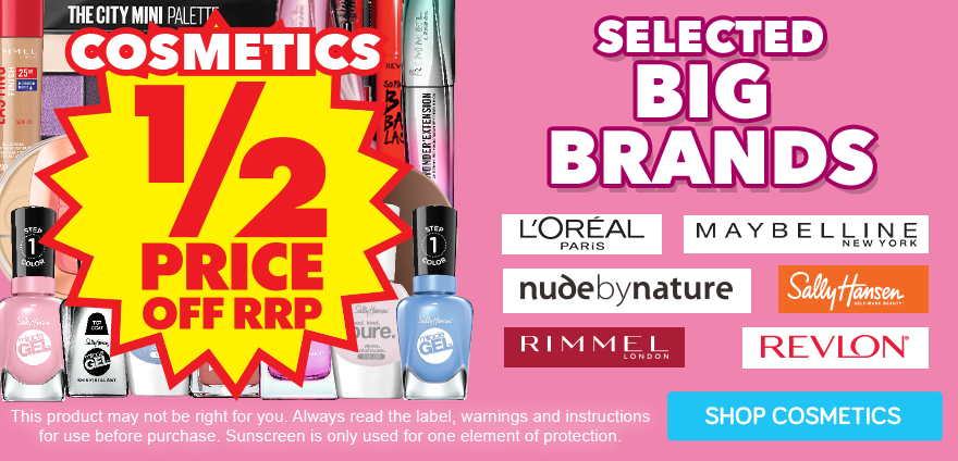 up to Half Price Selected Cosmetics